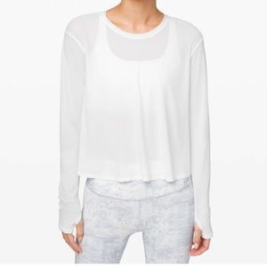 Lululemon No Inhibitions Long Sleeve Top & Bag